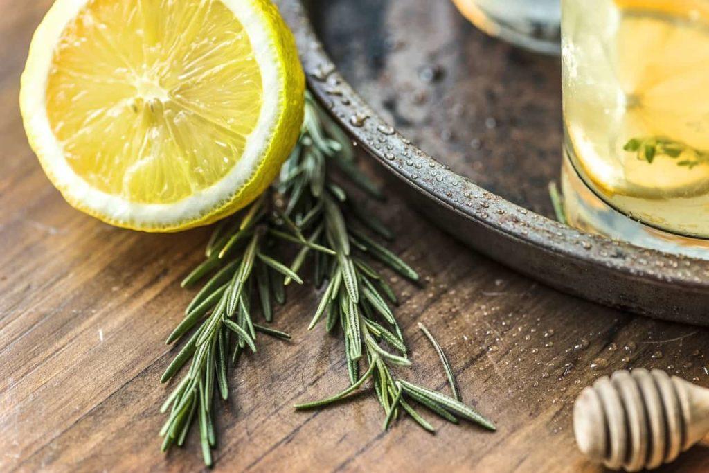 limpiador de cabello de limón